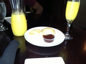 Mimosas, Biscuits & Jam