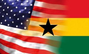 GHanaian American Flag